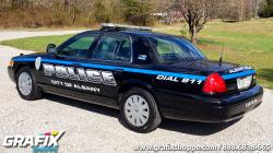 Albany PD Thin Blue Line Graphics